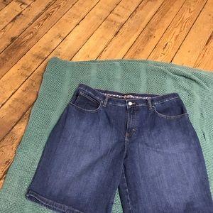 Women's denim shorts.